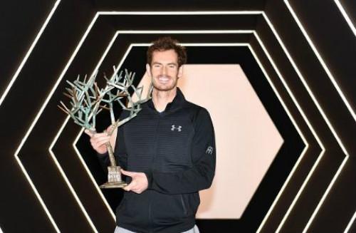 Lần đầu vô địch Paris Masters, Murray lo sớm mất ngôi số 1 - 1