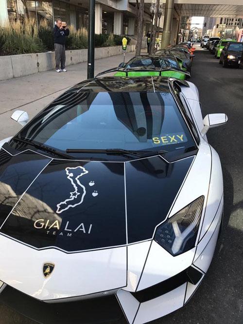 Gia Lai Team khoe dàn siêu xe Lamborghini khủng trên đất Mỹ - 11