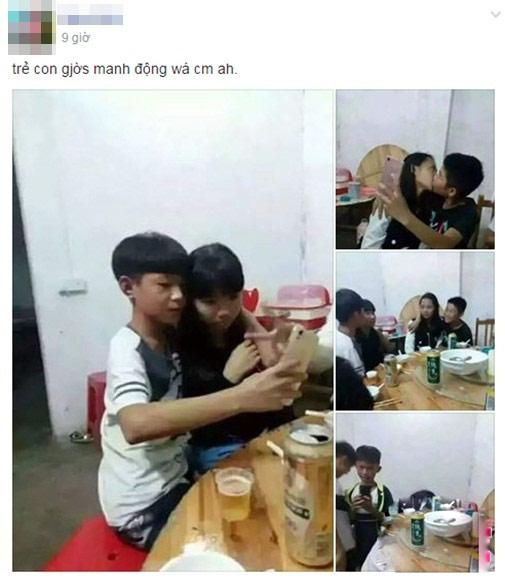 Sốc: Học sinh TQ hôn nhau ngấu nghiến trên bàn nhậu - 1