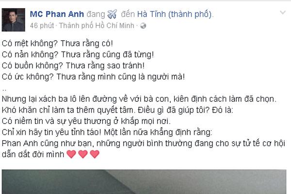 MC Phan Anh lần đầu thừa nhận những thị phi buồn tủi - 1
