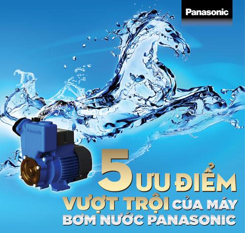 5 ưu điểm vượt trội của máy bơm nước Panasonic - 1
