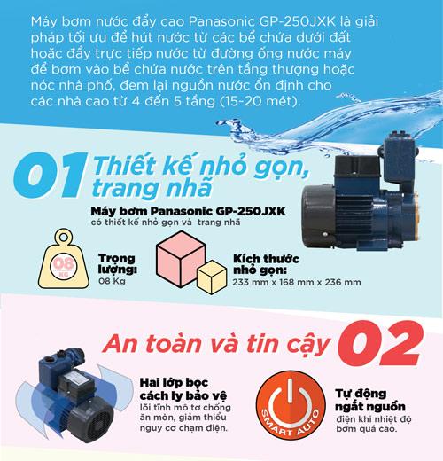 5 ưu điểm vượt trội của máy bơm nước Panasonic - 2
