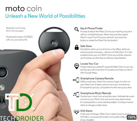 """Motorola giới thiệu """"đồng xu thông minh"""" tìm chìa khóa nhanh chóng - 1"""