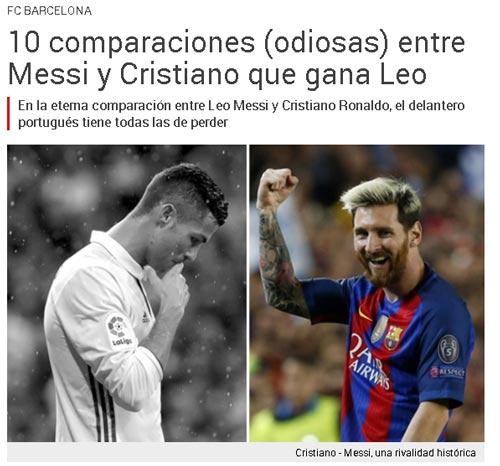 Ronaldo gia hạn, báo thân Barca lôi Messi ra so sánh - 1