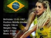 Thể thao - Bóng chuyền: Thiên thần đẹp rực lửa xứ samba