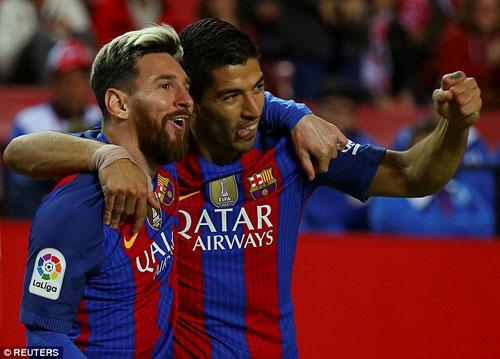 """""""Tam tấu"""" hay nhất châu Âu: Messi-Suarez-Neymar độc bá - 1"""