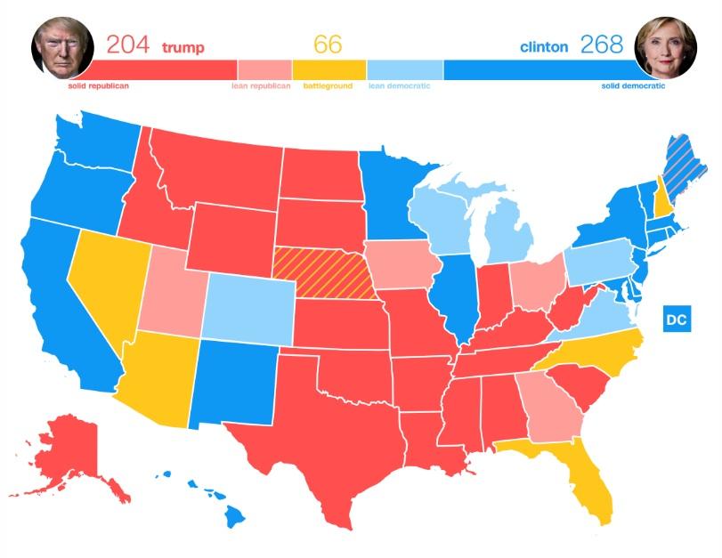 Chuyển biến ở bang quyết định ai là tân tổng thống Mỹ - 2