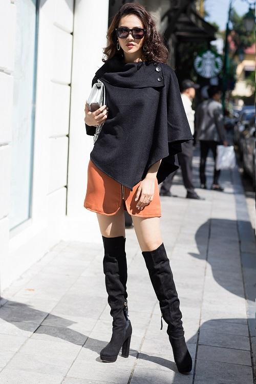 Mỹ nữ có làn da đẹp nhất Hoa hậu Việt Nam hút hồn trên phố - 6