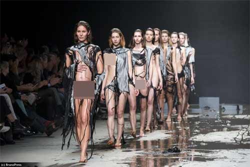 Show diễn lạ, áo quần tự bốc hơi khỏi cơ thể người mẫu - 7