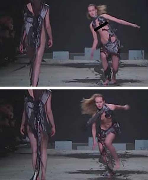 Show diễn lạ, áo quần tự bốc hơi khỏi cơ thể người mẫu - 3