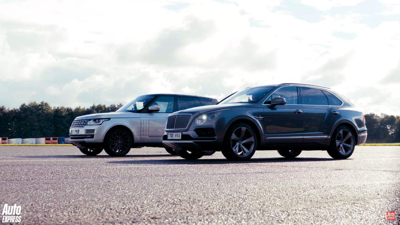 Video: Bentley Bentayga đọ sức Range Rover - 1