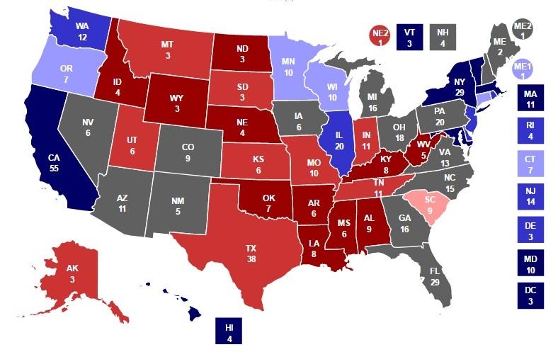 Trump có thể thắng ngoạn mục với số phiếu bỏ xa Clinton? - 1