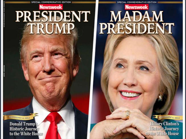 Báo Mỹ làm trước bìa Clinton chiến thắng gây 'bão' mạng - 1