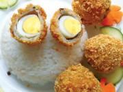 Ẩm thực - Cơm cuộn trứng cút chiên giòn bổ dưỡng cho bé yêu