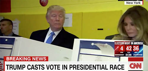 Donald Trump nhìn trộm xem vợ có bỏ phiếu cho mình? - 2