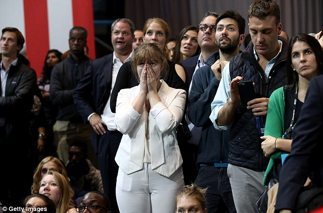 Dân Mỹ ôm mặt khóc khi bà Clinton thua thảm hại - 4