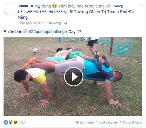 Thử thách chống đẩy 22 cái gây sốt giới trẻ - 4