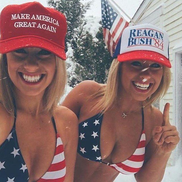 Mỹ nhân đua nhau mặc gợi cảm mừng Trump chiến thắng - 4