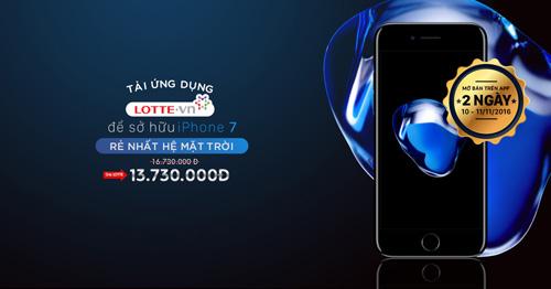 Mua iPhone 7 giá chỉ 13 triệu đồng khi sử dụng ứng dụng mua sắm từ LOTTE - 1
