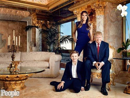 """Phong cách chuẩn """"soái ca nhí"""" của cậu út nhà Trump - 15"""