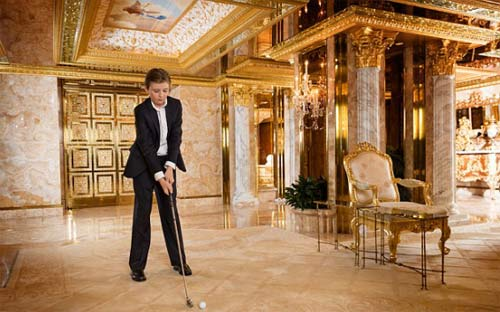 """Phong cách chuẩn """"soái ca nhí"""" của cậu út nhà Trump - 18"""