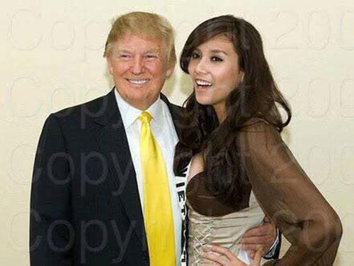 Á hậu Việt chụp ảnh cùng Donald Trump và catwalk quá đỉnh - 2