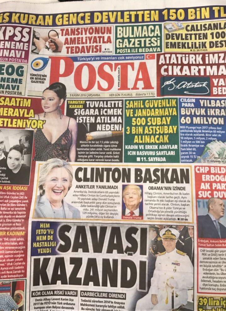 """Tờ báo """"hố nặng"""" vì đưa tin nhầm Clinton chiến thắng - 2"""