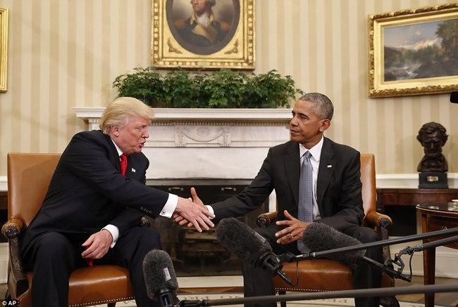 Cuộc gặp lịch sử 90 phút giữa Trump và Obama ở Nhà Trắng - 1