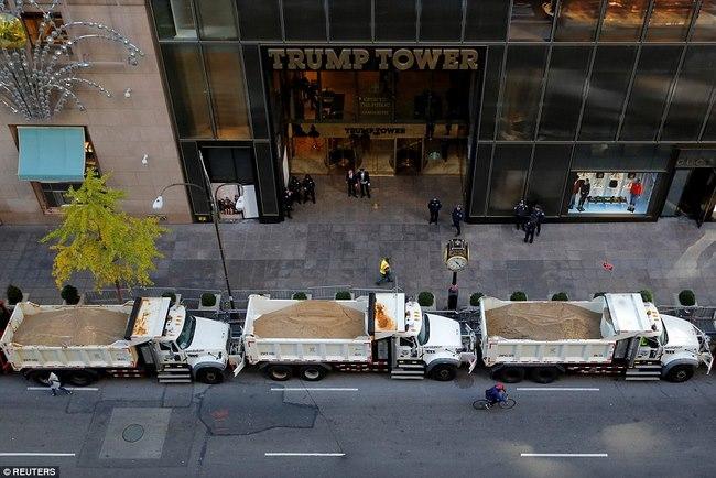 Nơi ở của Trump bỗng dày đặc mật vụ, xe tải bảo vệ - 2