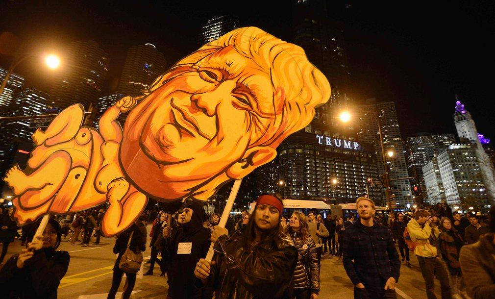 Mỹ: Làn sóng biểu tình chống Trump vẫn chưa dừng lại - 4