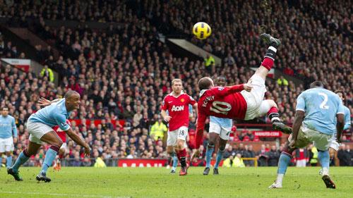 Bàn thắng đẹp nhất MU ở NHA: Rooney móc xe đạp chổng ngược - 1