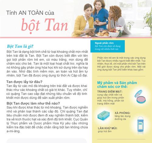 Tính an toàn của bột Tan - 1