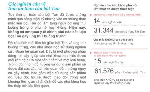 Tính an toàn của bột Tan - 3