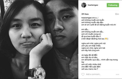 Con trai Hoài Linh liên tục cầu hôn bạn gái 19 tuổi - 1
