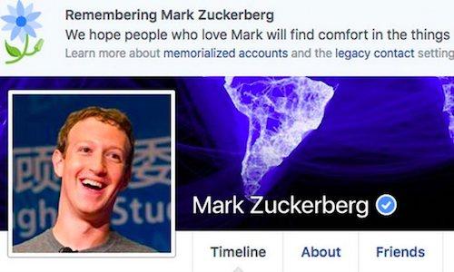 """Mark Zuckerberg bị """"báo tử"""" trên Facebook - 1"""