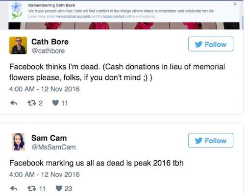 """Mark Zuckerberg bị """"báo tử"""" trên Facebook - 2"""