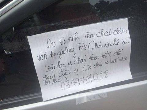 """Học sinh """"viết lời xin lỗi trên kính xe"""": Bình thường thôi mà! - 1"""