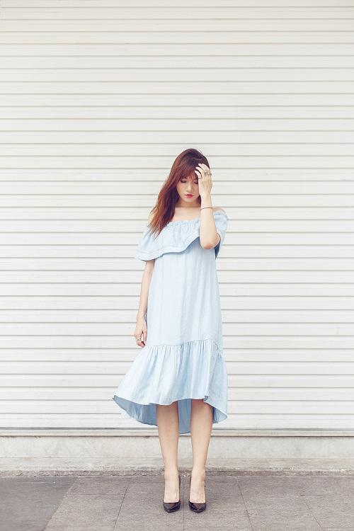 Hari Won vai trần đẹp mộng mơ trên phố - 2