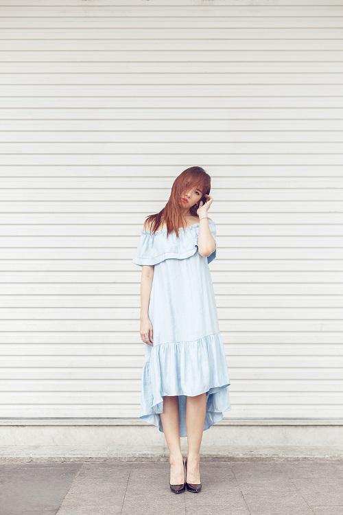 Hari Won vai trần đẹp mộng mơ trên phố - 3