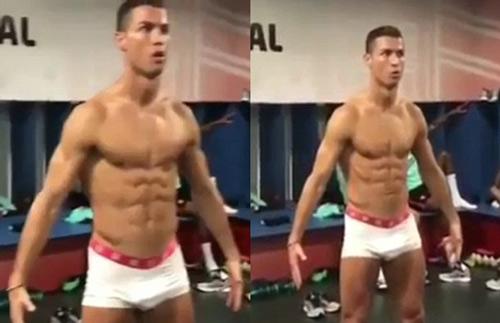 Ronaldo mặc quần lót, im như tượng theo thử thách lạ - 1