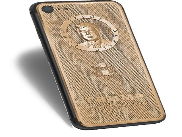 iPhone mạ vàng khắc hình Donald Trump, giá cao - 1