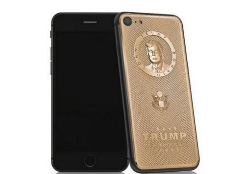 iPhone mạ vàng khắc hình Donald Trump, giá cao - 2