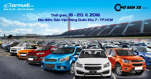 Lái thử xe,  mua xe giá tốt tại chợ săn xe lớn nhất năm 2016 - 1