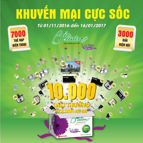 10.000 giải thưởng hấp dẫn dành tặng khách hàng Bảo Xuân 50+ - 2