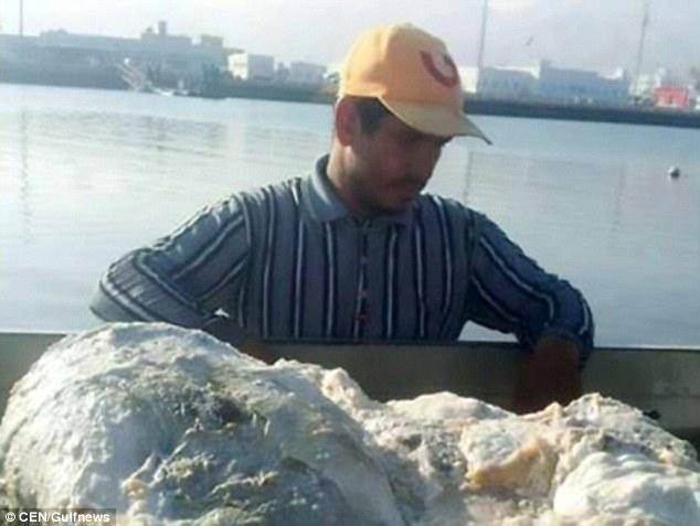 Kéo lưới vớ được tảng chất nôn cá voi giá 57 tỷ đồng - 1