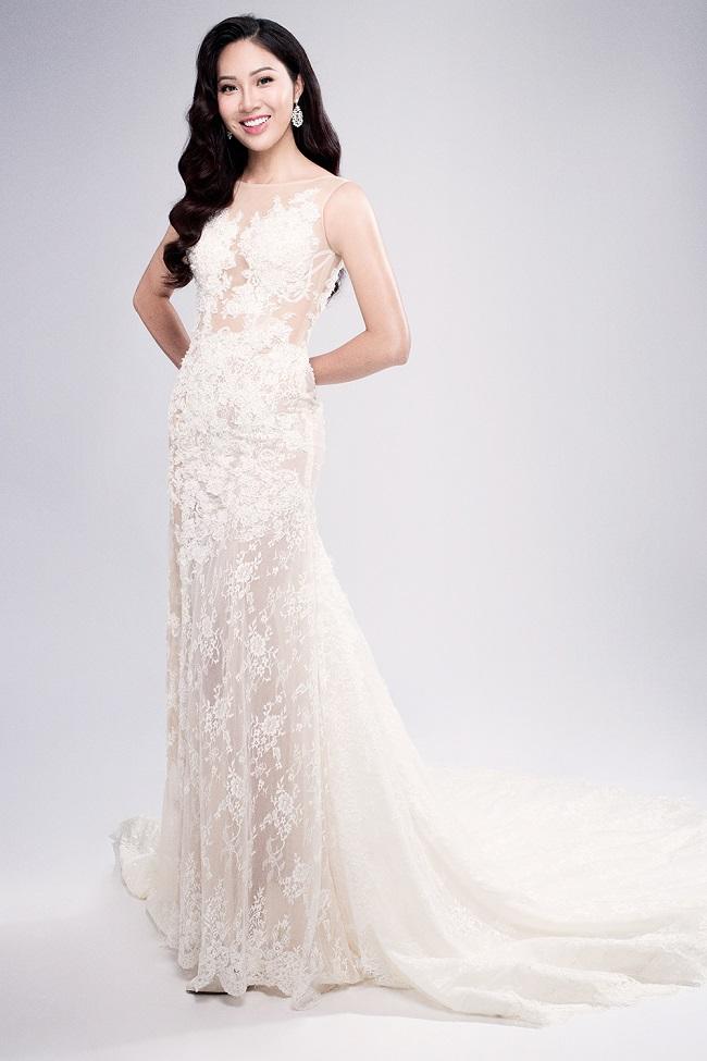 Diệu Ngọc rạng rỡ với đầm ren trước thềm Miss World - 3