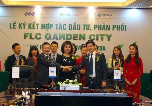 FLC GROUP, CENINVEST & STDA ký kết hợp tác đầu tư phân phối FLC Garden City - 1