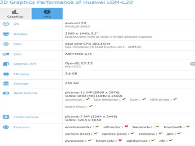 Rò rỉ Huawei P10 qua thử nghiệm benchmark GFXBench - 1