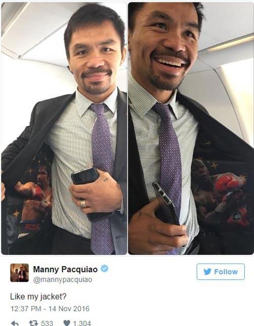 Tin thể thao HOT 14/11: Pacquiao mặc áo khiêu khích Mayweather - 1