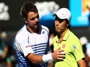 Thể thao - Tennis, ATP Finals ngày 2: Thư hùng Wawrinka - Nishikori